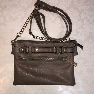 Kathy Ireland Brown Crossbody Bag